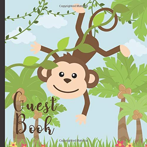 Monkey Theme Party Guest Book Includes Gift Tracker and Picture Memory Section (Monkey Party Guest Books, Band 9) ()
