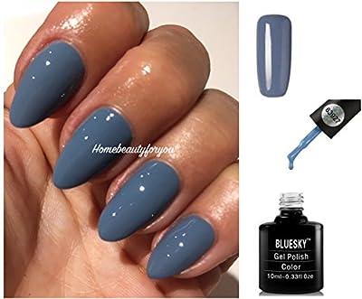 Bluesky 63927 Autumn Winter Blue Grey Nail Gel Polish UV LED Soak Off PLUS 2 Luvlinail Shine Wipes