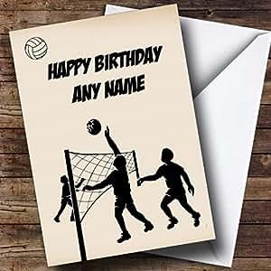 volley-ball personnalisé carte d'anniversaire