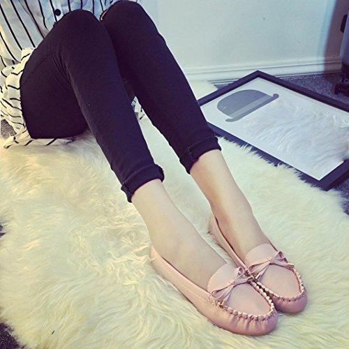 Omiky® Sommer Frauen flache Schuhe Casual flache Frauen Schuhe Slips flache Damenschuhe Rosa