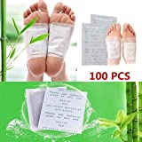 Detox Pflaster, Kapmore Detox Fußpflaster zum Entfernen von Körpergiften, Schmerzlinderung, Gesundheitspflege, Fußpflege-Pads mit Klebefolien, 100 Stück