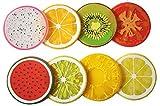 Joyfeel buy 8Piece Cute Color Gel di silice Frutta Modello Drink Cup Holder Cuscino Tappetino Antiscivolo Anti-Caldo sottobicchieri Protezione per Tavolo Rotondo, Colore Casuale