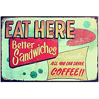 Imported COFFEE Vintage Tin Sign Bar Pub Cafe Wall Decor Retro Metal ART Poster 10
