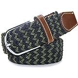 LUFA 120cm Mix caoutchouc couleur Stretch Ceinture en alliage Ardillon tissé ceinture pour hommes / femmesB22