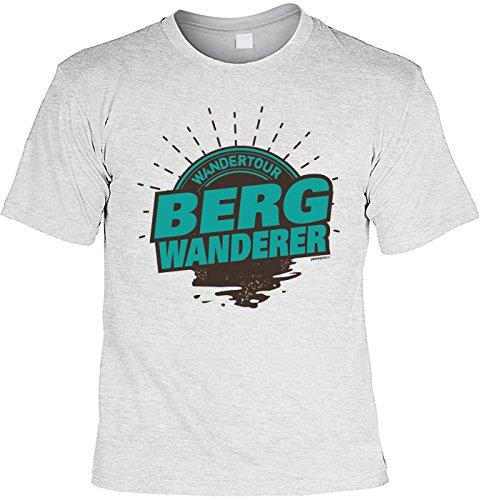 Bergsteiger/Wander/Kletter-Shirt/Sprüche-Shirt Thema Wandern: Wandertour Bergwanderer für Gipfelstürmer Grau