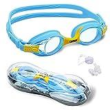 Swimming Goggle,Copozz Boys/Girls Swim Goggles, Anti-Fog&UV,Clear Lens Childrens Swimming Glasses for Kid Aged 4-12 + Lifetime Warranty + Free Nose Clip and Earplug Se