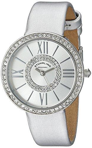 Stuhrling Original-Secondo le donne s-Orologio donna al quarzo con Display analogico e cinturino in pelle, 566,01, colore: argento