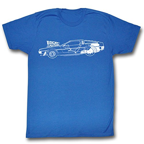 Back To The Future - Herren-Schema T-Shirt Royal Blue