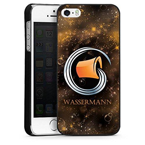 Apple iPhone 5s Housse Étui Protection Coque Signes du zodiaque Verseau Astrologie CasDur noir