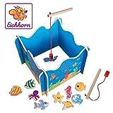 Eichhorn 100002089 - Angelspiel mit zwei Angeln, Holzspielzeug, Geschicklichkeit, ab 3 Jahren, 16...