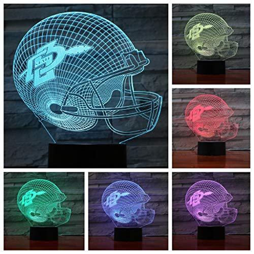 YLSE-night light 3D Nachtlichter San Diego State Aztecs/Led Energiesparlampen, 7 Dekorative Lichter Mit Farbwechsel - Schwarze Basis, Kinder (Aztec Lampe)