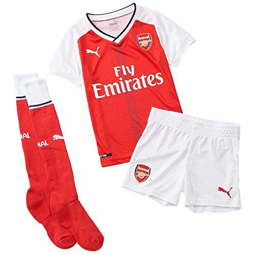 Puma Kinder Set AFC Home Minikit with Hanger, High Risk Red-White, 92, 749730 01 (Arsenal-fußball)