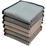 Stofftaschentücher 6 Stück ca.40x40cm reine Baumwolle Herrentaschentücher Lionel