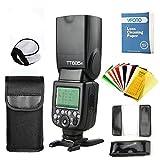Godox TT685 F TTL Maestro-Esclavo GN60 2.4G Transmisión HSS 1 / 8000S Flash Speedlite con Flash Filtros de Color para Fuji DSLR Cámaras X-Pro2/X-T20/X-T2/X-T1/X-Pro1 (TT685F)