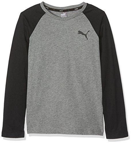 Puma Kinder Style Baseball Tee T-Shirt, Medium Gray Heather, 128 - Jungen-baseball-tee