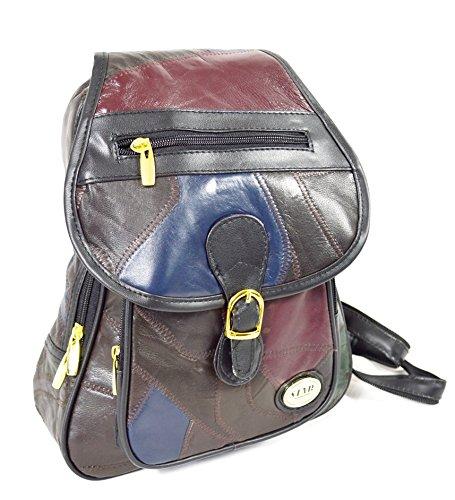 Leder Rucksack Multi Color Unisex City Rucksack Tasche