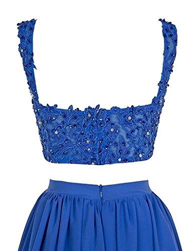 Ysmo Frauen A-line Umfasst 2 Stück Tüll O-neck Perlenbesetzten Sexy Zurück Knielangen Homecoming Kleider Kurzen Ball Ballkleid Rosa