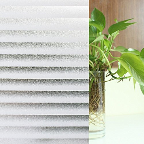 PinShare Home Fenster Privatsphäre Anti-UV-statische Folie für Fenster Glas Haus aus satiniertem Glas Film, Film, wiederverwendbar, Vinyl, 60 cm * 200 cm - Wiederverwendbare Fenster-folie