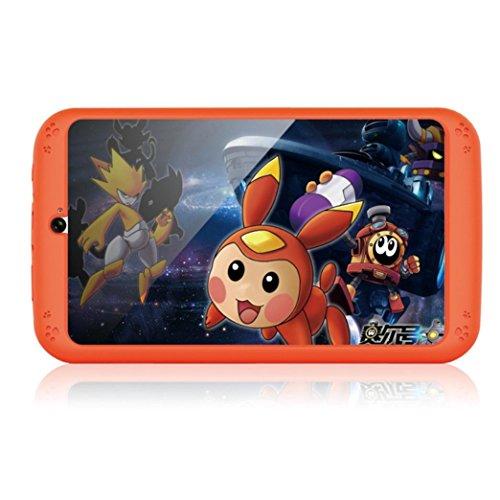 samlike Tablet, 7pollici Quad Core HD Tablet per bambini Android 4.4KitKat Dual Camera WiFi Bluetooth arancione Orange