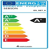 sebson® 12er-Pack Einbaustrahler inkl. GU10 LED 3,5W 300lm (Ersetzt 30W), GU10 Fassung [Einbauleuchte Silber]