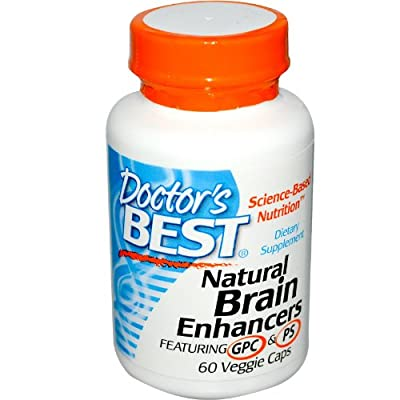 Doctors Best Natural Brain Enhancers, 60 Vegetarian Capsules