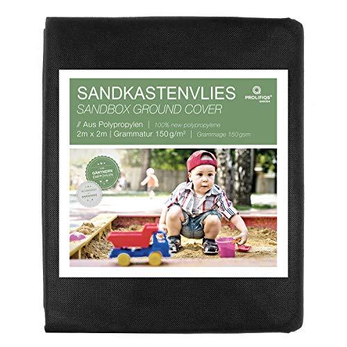 Prolifiqs Sandkastenvlies 150g / m² I Sandkasten Vlies & Unkrautvlies für den Kinder Sandkasten I Atmungsaktiv & Reißfestes Gartenvlies I Für Sand + Rindenmulch + Kies + Pflastersteine (2 x 2 m)