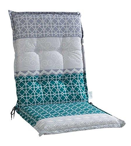 Sesselauflage Sitzpolster Gartenstuhlauflage für Mittellehner BACH5 | B 50 cm x L 110 cm |...