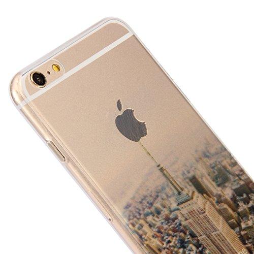 Apple iPhone iphone 5/5S Custodia fit ultra sottile Silicone Morbido Flessibile TPU Gel Shell Custodia Case Cover Protettivo Protettiva Skin Caso Con Stilo Penna Empire State Building