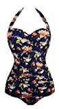 Angerella Vintage 50s Pin Up Bademode One Piece Monokinis (SST045-N1-M)