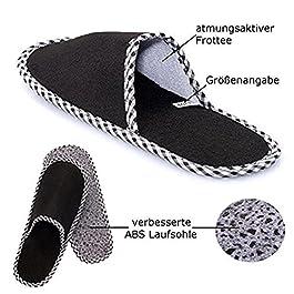 """ABS pantofole per gli ospiti, pantofole per gli ospiti """"Guest"""", pantofole, set pantofola da 6, antiscivolo."""