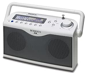 Roberts Classiclite DAB/FM RDS Digital Stereo Radio with up to 100 Hours Battery Life - White