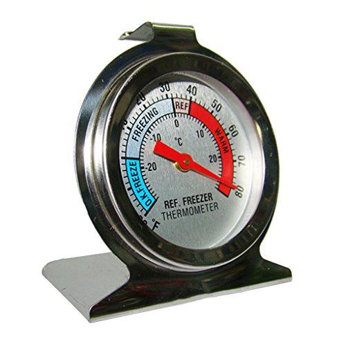 MagiDeal Analog Kühlschrank Gefrierschrank Thermometer, -20 bis +80 Grad Fahrenheit / -20 bis +20 Grad Celsius
