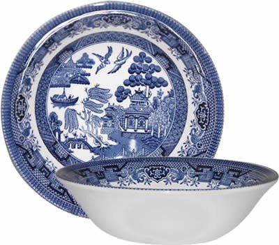 Churchill China Blue Willow Oatmeal Bowl 6 (Set of 6) by Churchill China (England) China Blue Willow