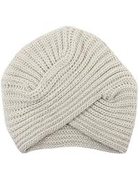 Mujer Invierno Sombrero de Turbante, Tukistore Moda India Gorro de Punto Cálido Tocado Lindo Gorro