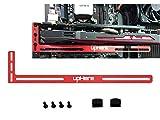 upHere Grafikkarte GPU Brace Support-Videokarte Sehnenhalter/Holster-Halterung, eloxiertes Luft- und Raumfahrt-Aluminium, Einzel- Oder Doppelsteckplatzkarten (Rot)