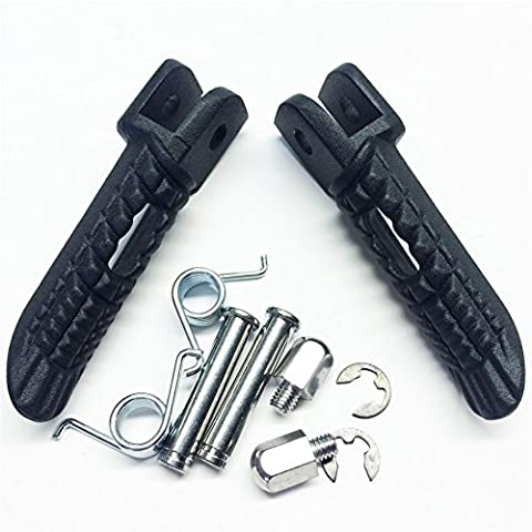 Black Front Foot Pegs Footrest For Suzuki Gsx-R Gsxr 600/750 1000 2000-2011