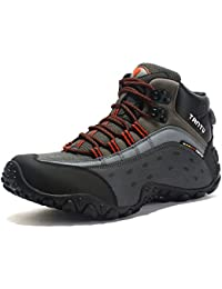 GNEDIAE Zapatillas de Senderismo Hombre Big Size Leather Lace-ups Trail Camping Sneaker para Outdoor Walking Travel Zapatos Botas de Trabajo 40-46