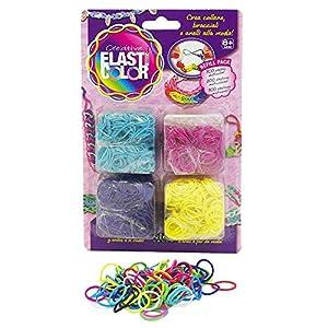 Elasticolor - Creative, juego para crear joyas de 800 gomas y 4 colores diferentes (Nice Group 480)  (surtido)