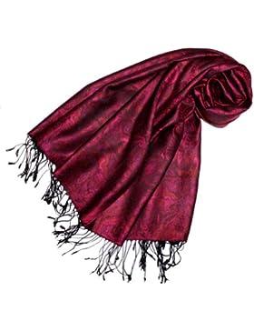 LORENZO CANA Marken Pashmina Schal Schaltuch Stola Umschlagtuch opulentes Muster in harmonischen Farben mit Fransen...