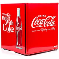 Husky HUS-EL196 Coca Cola Design Mini Fridge/Drinks Cooler, Red