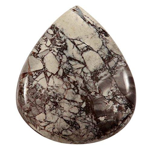 Gems&JewelsHub 54,5cts Natur Design Porzellan Exotica Jasper Cabochon Pear lose Edelstein (Exotica-anhänger)