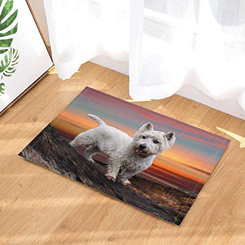 (cdhbh Hund Decor Badteppich West Highland Weiß Terrier Rutschfeste Fußmatte Boden Eingänge Innen vorne Fußmatte Badezimmer Teppiche Memory Foam 39,9x 59,9cm)