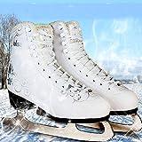 KILLYSUFUY Schlittschuhe mit Stahl-Schlittschuhen Eiskunstlauf Schlittschuhe Schlittschuhe Schlittschuhe Schlittschuhe Womes Kinder Schlittschuhe Baud Gepolsterte Damen- und Mädchen-Schlittschuhe