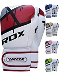 RDX Boxing Gloves Ego Muay Thai Training Maya Hide Leather Sparring Punching Bag Mitts kickboxing Punch Fighting