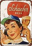 PotteLove Schaefer Bier und Brooklyn Dodgers Vintage Metall Schilder 20,3x 30,5cm