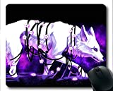 Yanteng Tapis de Souris Gaming, Tapis de Souris Violet Loup Animal (Multicolore)