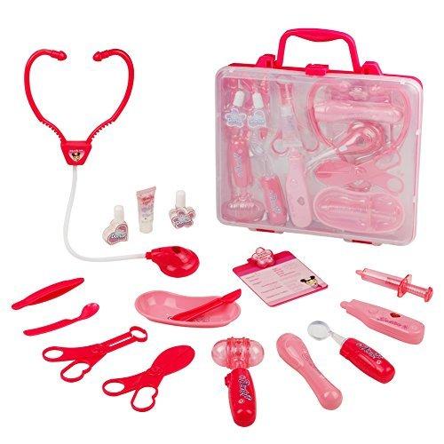 zt Kinder, Arztköfferchen Set, Rosa Geschenk für Kinder 3 4 5 6, Zufällige Lieferung mit Zwei Arten (Arzt Kits)