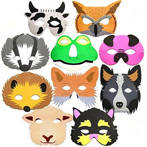 10-masques-danimaux-en-mousse-pour-enfants-Thme-fort-et-ferme