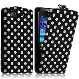 Seluxion - Housse Coque Etui Pour Samsung Wave 3 Motif à Points Couleur Noir