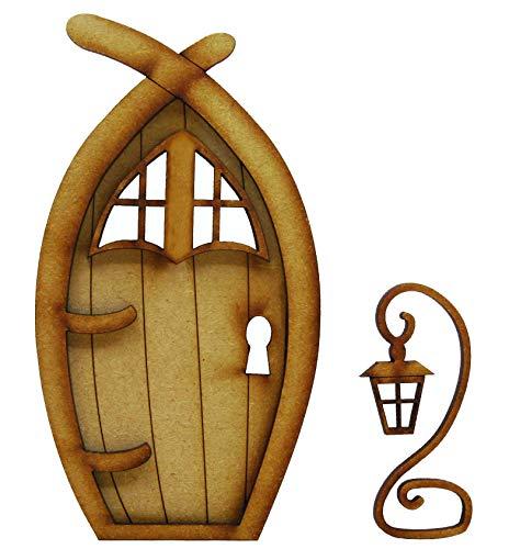 Narnia Fairy Tür. dreidimensionale Selbstmontage Kit Fairy Tür Craft Holz mit Fairy Windows und magischen Laterne